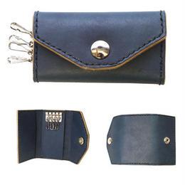 Indigo leather basic  keycase