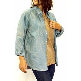 oxford  shirt  (size M)   indigo ×  Soot