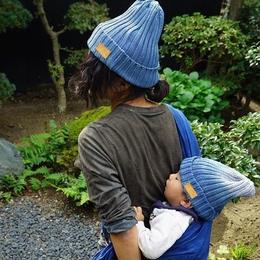 indigo beanies for parent and child alike