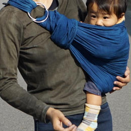 indigo baby sling