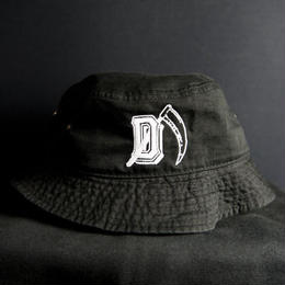 """D"" BUCKET HAT /BLACK"