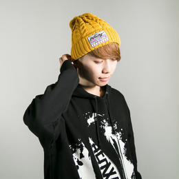 "HEDWiNG ビーニー ""Cable knit Beanie"" / MUSTARD"