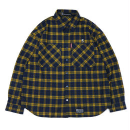 S-BONE BIG NEL SHIRTS / YELLOW