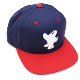 PPkn SNAPBACK / NAVY-RED
