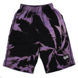 TIE-DYE HALF PANTS / PURPLE