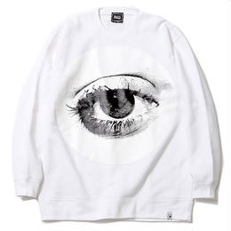 """SILLENT FROM ME クルースウェット """"HOLE -Crew Sweat-"""" / WHITE"""