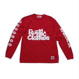 "ANIMALIA ロングスリーブTシャツ ""RUSTICLOTHES"" / RED"