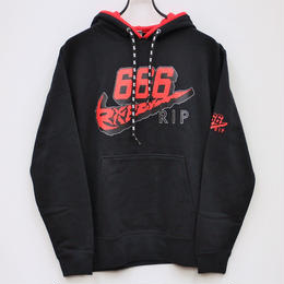 666 SWASH HOODIE / BLACK-RED