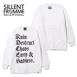 RUBRIC -Crew Sweat- / WHITE