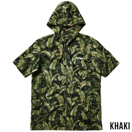 ALOHA HOOD SHIRT S/S -Resolve- / KHAKI