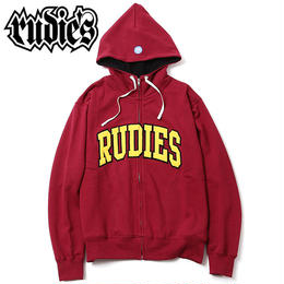 COLLEGE HIGHNECK ZIPHOOD SWEAT / BURGUNDY