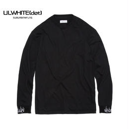 -DIRT- LAYERED LONG SLEEVE TEE / BLACK-WHITE