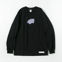 Pastel Ink Long Sleeve T-shirt / BLACK