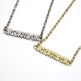 LOGO Necklace / SILVER,BRASS