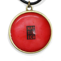 NATSUMECO LOGO NECKLACE / RED