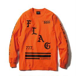 -FLAG- LS Tee / ORANGE