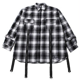 ECHO -Zip Wide Shirts- / BLACK