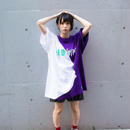 Cross Cut Missing T-Shirt STREET ARTS LIMITED / WHITE-PURPLE
