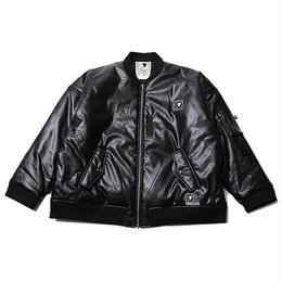 "SILLENT MA-1ジャケット ""NOCTURNE -Leather Flight Jacket-"" / BLACK-WHITE"