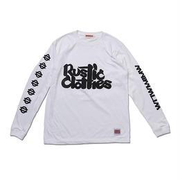 "ANIMALIA ロングスリーブTシャツ ""RUSTICLOTHES"" / WHITE"