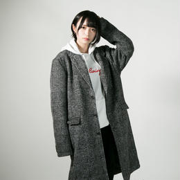 "HEDWiNG チェスターコート ""Light knit chester Coat"" / GLEN CHECK"