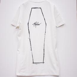 Rest In Peace Coffin Tシャツ / WHITE