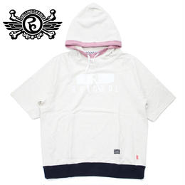 FAKE LAYERED HOODIE / WHITE