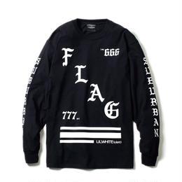 -FLAG- LS Tee / BLACK