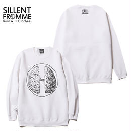 BRAIN -Crew Sweat- / WHITE