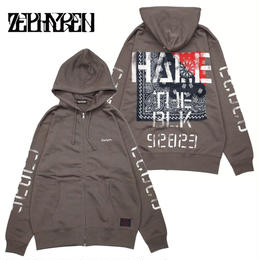 ZIP PARKA -Inhale the black- / CHARCOAL