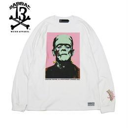 POP FRANKEN L/S T / WHITE