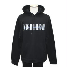 "LILWHITE(dot)パーカ""NIGHTHEAD"" HOODIE / BLACK"