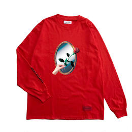 -REFLECTED- L/S TEE / RED