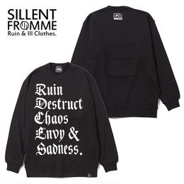 RUBRIC -Crew Sweat- / BLACK