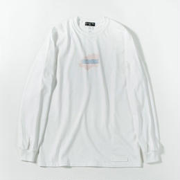 Pastel Ink Long Sleeve T-shirt / WHITE