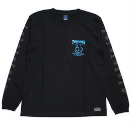 RCxTHRASHER LONG T-SHIRTS / BLACK