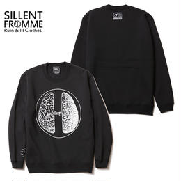BRAIN -Crew Sweat- / BLACK