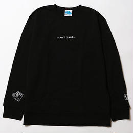 I CAN'T SLEEP [ CREW SWEAT ] / BLACK
