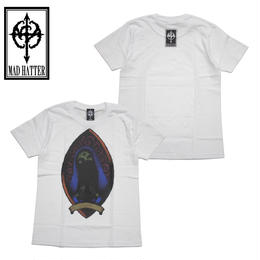 mercy s/s Tee / WHITE-BLUE