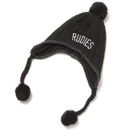 """RUDIE'S ニットキャップ """"PHAT BONBON CAP"""" / BLACK"""