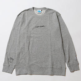 I CAN'T SLEEP [ CREW SWEAT ] / GRAY