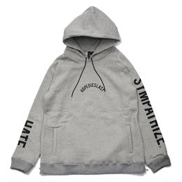 -LILARCH- SIDE ZIP HOODIE / GRAY