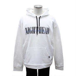 "LILWHITE(dot)パーカ""NIGHTHEAD"" HOODIE / WHITE"