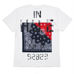 S/S TEE -Inhale the black- / WHITE
