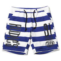 DRAWING BORDER SHORTS / BLUE