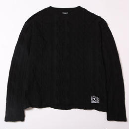 MIMICRY -Knit Sweater- / BLACK