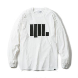 -ANGULAR- LONG SLEEVE TEE / WHITE