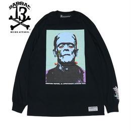 POP FRANKEN L/S T / BLACK