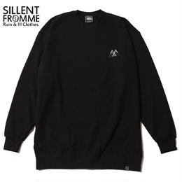 ALEXIA -Crew Sweat- / BLACK