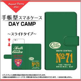 AQUOSシリーズ DAY CAMP 手帳型 スライドタイプ 内側ホワイト/ブラウン(品番caqbook-007)